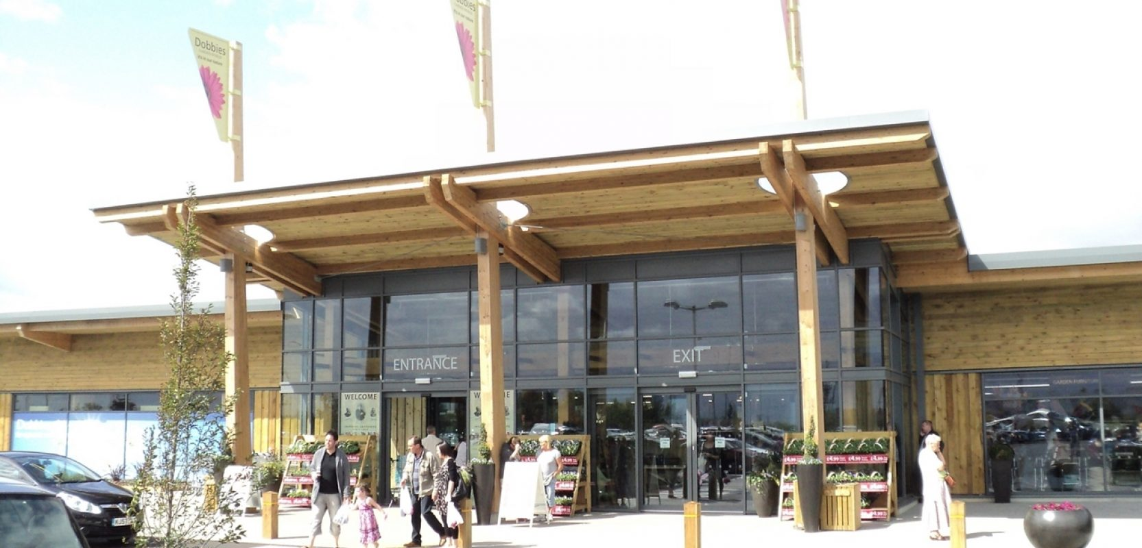 Images of Dobbies Garden Centres project